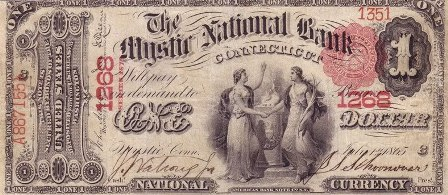 rare paper money $1 bank note